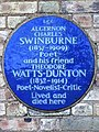 ALGERNON CHARLES SWINBURNE (1837-1909) ~ Poet ~ and his friend THEODORE WATTS-DUNTON (1832-1914) Poet-Novelist-Critic Lived and died here (23944897239).jpg
