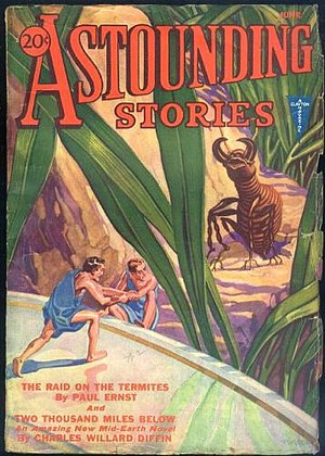 "Paul Ernst (American writer) - Ernst's novella ""The Raid on the Termites"" was the cover story in the June 1932 Astounding Stories"