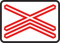 A 30b - Výstražný kríž pre železničné priecestie viackoľajové.png