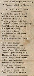 A Dream Within a Dream poem by Edgar Allan Poe