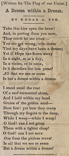 A dream within a dream wikipedia a dream within a dream malvernweather Images