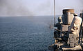 A Mark 15 Phalanx close-in weapons system aboard the guided missile cruiser USS Gettysburg (CG 64) fires during a live-fire exercise in the Gulf of Oman Nov. 1, 2013 131101-N-MY642-119.jpg