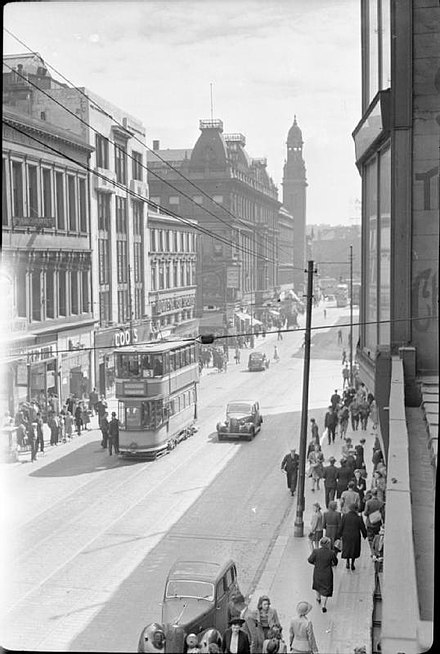 Sauchiehall Street during World War II, in 1943