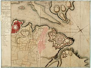 Invasion of Minorca (1781) - Plan of Fort St. Philip. (1780)
