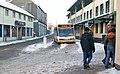 A snowy Caernarfon bus station - geograph.org.uk - 2205276.jpg