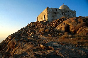 English: Mosque at the top of Djebel Haroun (A...