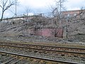 Abandoned shelter at Newtonville station, March 2013.JPG
