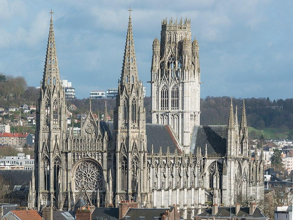 Abbaye Saint-Ouen de Rouen as seen from Gros Horloge 140215 3