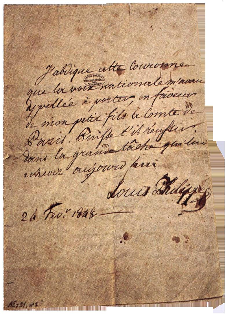 Abdication Louis-Philippe