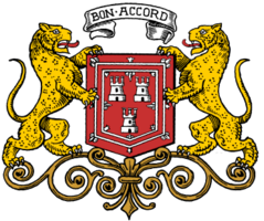 The coat of arms of Aberdeen