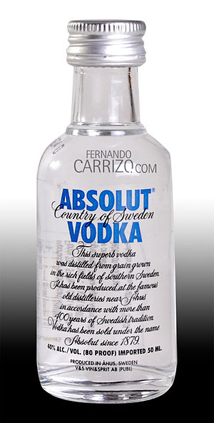 Absolut Vodka.