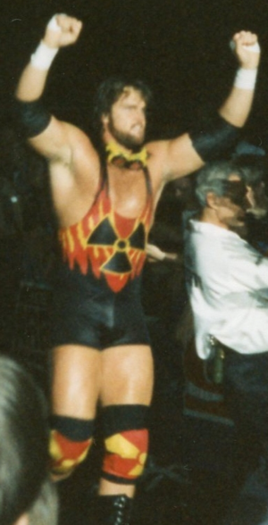 "Bryan Clark - Clark as ""Adam Bomb"" in 1995."