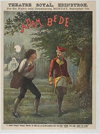 Adam Bede - Poster for Theatre Royal, Edinburgh