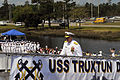 Adm. Gary Roughead walks up the brow of of USS Truxtun during comissioning.jpg