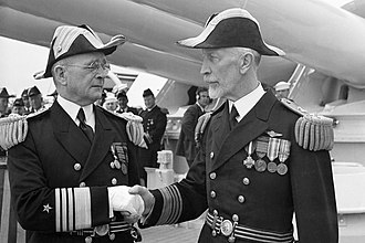 Joseph M. Reeves - Admiral Arthur J. Hepburn, left, assuming command of United States Fleet from Admiral Joseph M. Reeves, June 24, 1936
