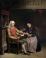 Adolph Tidemand - Old Age Solitude - De ensomme gamle (Husandakt) - Nasjonalmuseet - NG.M.03177.png