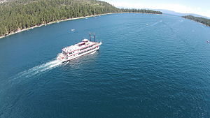 Emerald Bay State Park - Image: Aerial of Emerald Bay looking north