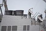 Aft funnel & AN SPG-62 radars of USS Curtis Wilbur (DDG-54) left rear view at U.S. Fleet Activities Yokosuka April 30, 2018.jpg