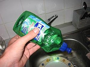 Dishwashing liquid - Dishwashing liquid in use