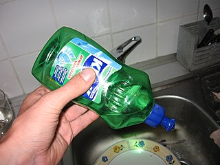Dishwashing liquid detergent used for cleaning dishes