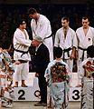 Akio Kaminaga, Anton Geesink, Ted Boronovskis, Klaus Glahn 1964.jpg
