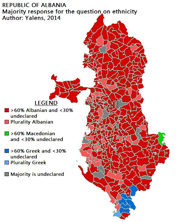 Albania majority ethnicity 2011 census