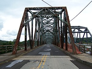 Albert Gallatin Memorial Bridge - Image: Albert Gallatin Memorial Bridge (1930) West End