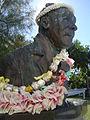 Albert Henry bust at grave, Rarotonga.jpg