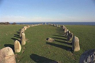 Ale's Stones - Image: Ales stenar KMB 16000300016281