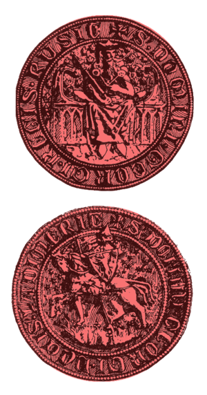 Lodomeria - Seal of Giorgi, Regis Rusie, Ducis Ladimerie; (Ladimerie is shown on the side with knight)