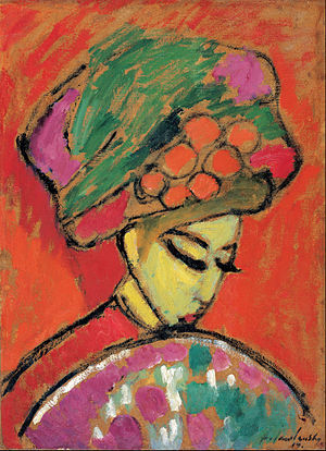 Alexej von Jawlensky - Image: Alexei Jawlensky Young Girl with a Flowered Hat, 1910 Google Art Project