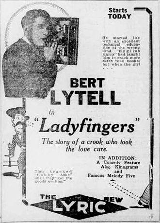 Alias Ladyfingers - Newspaper ad