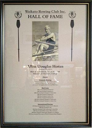 Allan Horan - Image: Allan (Jack) Horan Waikato Rowing Hall Of Fame