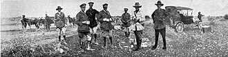 Capture of Jericho - Image: Allied commanders breakfast after the capture of Jericho 1918