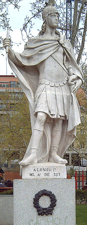 Alfonso I of Asturias - An 18th-century statue of Alfonso I, by Juan Porcel in Madrid