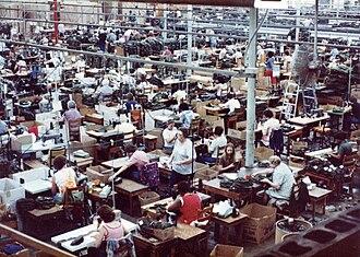 Shop floor - Image: Alpha Factory Sewing Floor 80 90