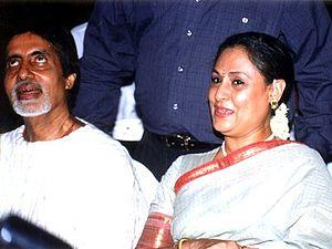 Jaya Bachchan -  Jaya Bachchan with her husband Amitabh Bachchan.