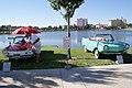 Amphicar 770 1966 4570 And Amphicar 770 1967 4814 HeadOn Lake Mirror Cassic 16Oct2010 (14877012942).jpg