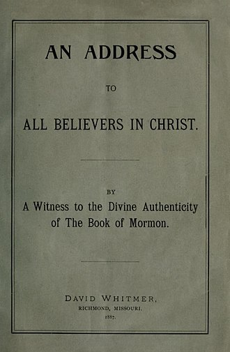David Whitmer - Address to Believers