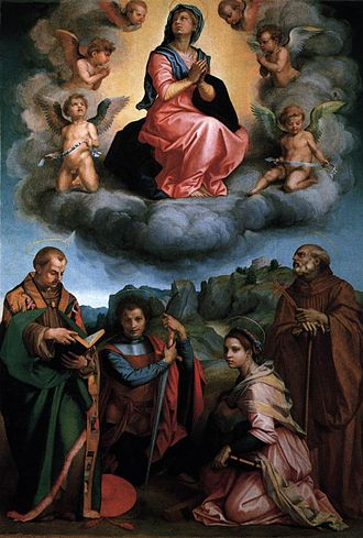 Andrea del Sarto - Assumption of the Virgin (Poppi Altarpiece), 1530