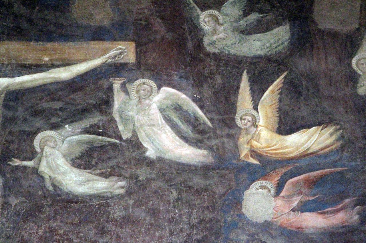 Andrea Orcagna, Cenacolo, particolare della Crocifissione, Santo Spirito (Fondazione Salvatore Romano), 1360-65 ca..