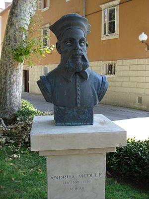 Andrea Schiavone - Andrija Medulić/Andrea Schiavone bust in Zadar, Croatia