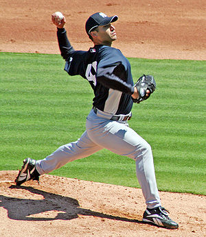 Andy Pettitte - Pettitte pitching at Spring training in 2007