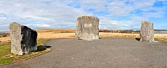 Tredegar - The Aneurin Bevan Stones were erected to commemorate where he held open air meetings with constituents.