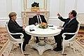 Angela Merkel, Vladimir Putin, François Hollande at the Kremlin (2015-02-06) 02.jpg