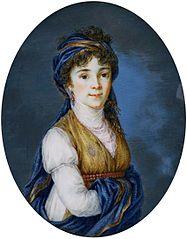 Miniature of Princess Anna Grigorievna Belosselsky-Belozersky (1773-1846).