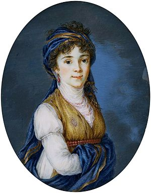 Beloselsky-Belozersky Palace - Miniature of palace's owner Princess Anna Grigorievna Belosselsky-Belozersky (1773-1846) by Anonymous from Russia after Élisabeth Louise Vigée Le Brun, 1820, National Museum in Warsaw