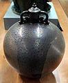 Anselmo bucci, vaso con coperchio in maiolica a lustro, faenza 1936 circa.JPG