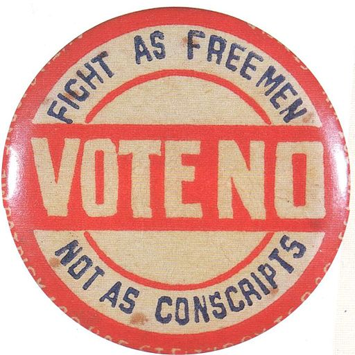 Anti-conscription badge