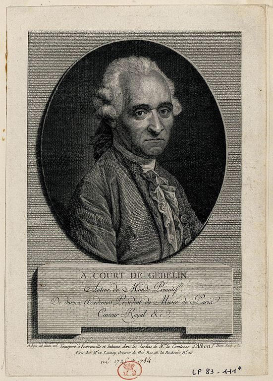 Antoine Court de Gebelin, esotericist and cartomancer